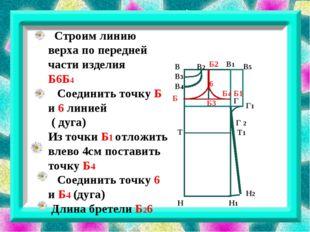 В В3 В1 В2 В4 В5 Г Г 2 Г1 Б1 Б3 Б Б2 Н Н1 Н2 6 Строим линию верха по передне