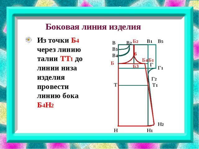 Боковая линия изделия В В3 В1 В2 В4 В5 Г Г2 Г1 Б1 Б3 Б Б2 Н Н1 Н2 6 Т Т1 Б4...