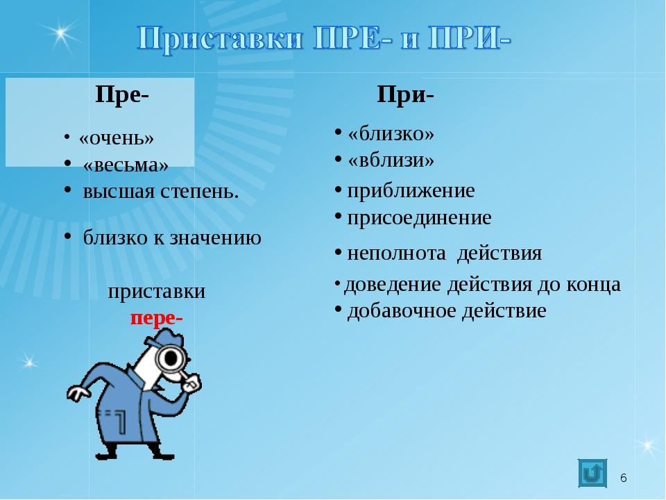 Презентация по русскому языку на тему Анализ контрольного  слайда 6 Пре При очень весьма высшая степень близко к значению