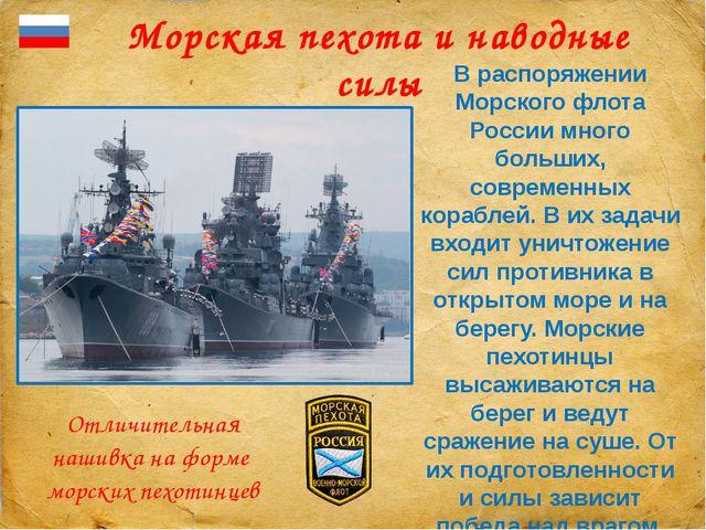 Морская пехота и наводные силы В распоряжении Морского флота России много бо...