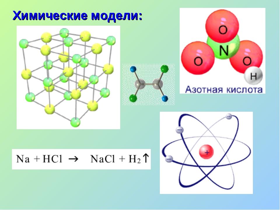 Химические модели: