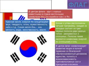"""ФЛАГ Фоновый белый цвет - национальный цвет Кореи (""""нация в белых одеждах""""),"""