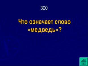 Что означает слово «медведь»? 300