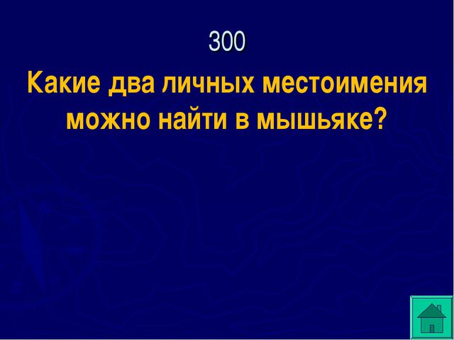 300 Какие два личных местоимения можно найти в мышьяке?