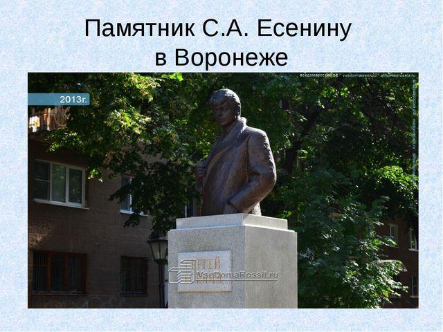 Памятник С.А. Есенину в Воронеже