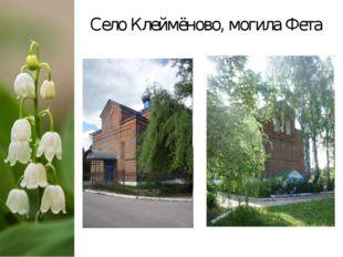 Село Клеймёново, могила Фета