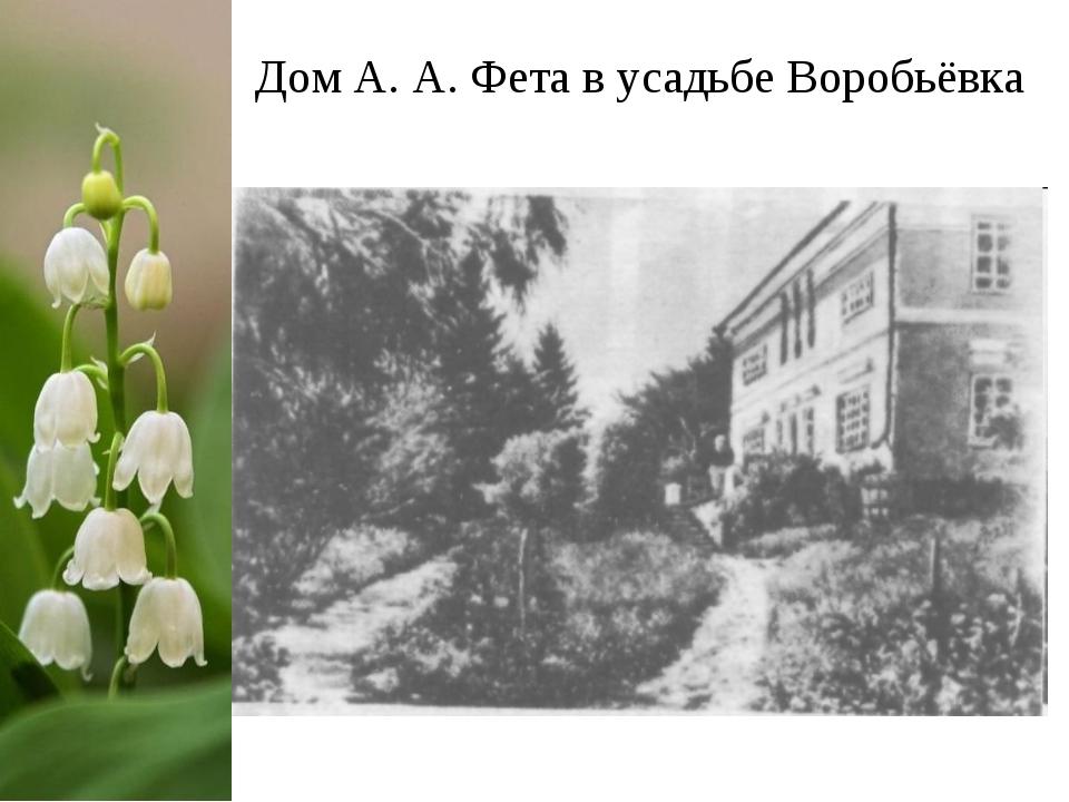 Дом А. А. Фета в усадьбе Воробьёвка