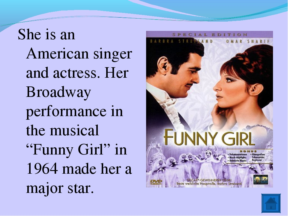 She is an American singer and actress. Her Broadway performance in the musica...