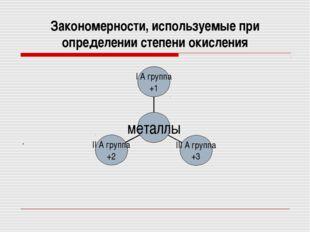 Закономерности, используемые при определении степени окисления .
