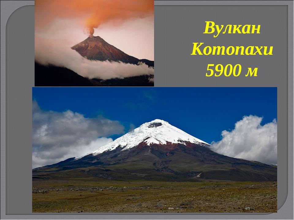 Вулкан Котопахи 5900 м