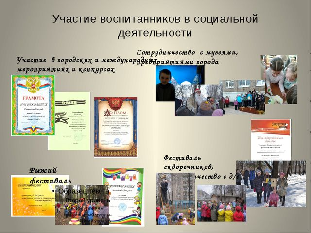 Участие воспитанников в социальной деятельности Рыжий фестиваль Фестиваль скв...