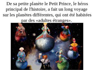 De sa petite planète le Petit Prince, le héros principal de l'histoire, a fai