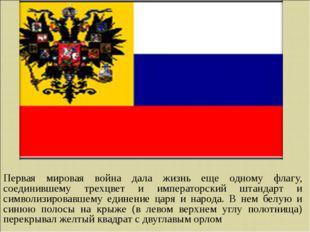 Первая мировая война дала жизнь еще одному флагу, соединившему трехцвет и имп