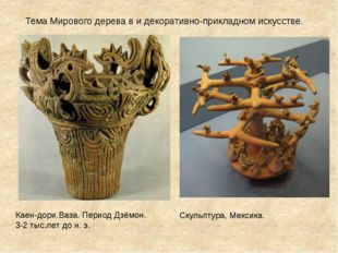 Каен-дори.Ваза. Период Дзёмон. 3-2 тыс.лет до н. э. Тема Мирового дерева в и