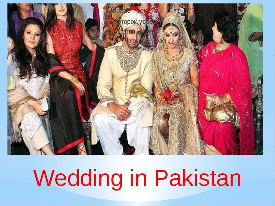 Wedding in Pakistan