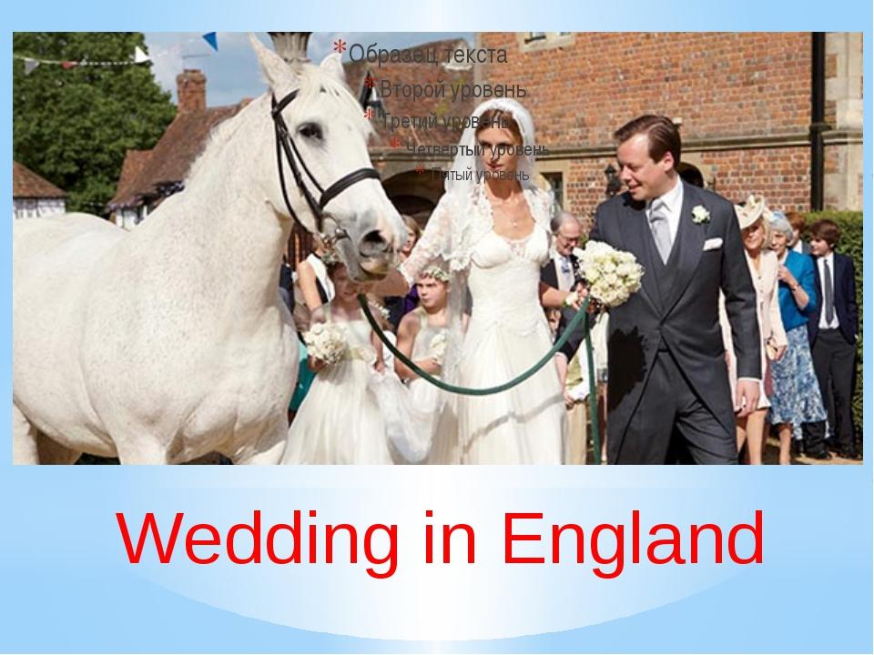 Wedding in England