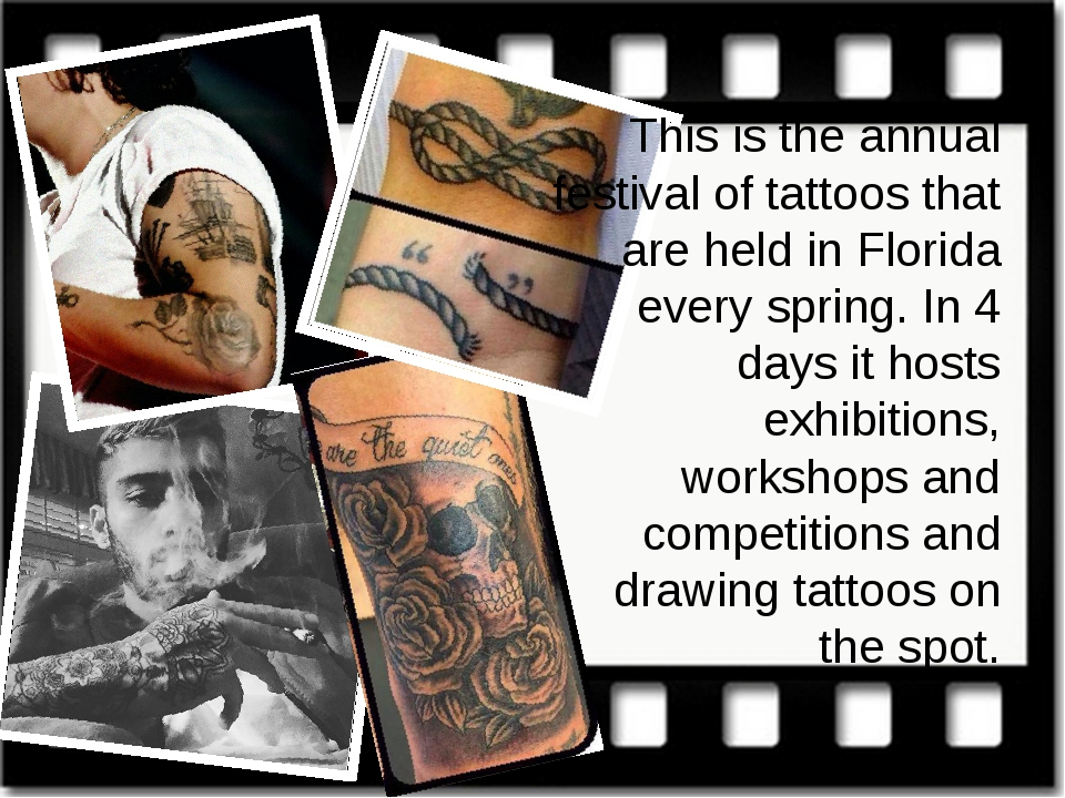 This is the annual festival of tattoos that are held in Florida every spring....