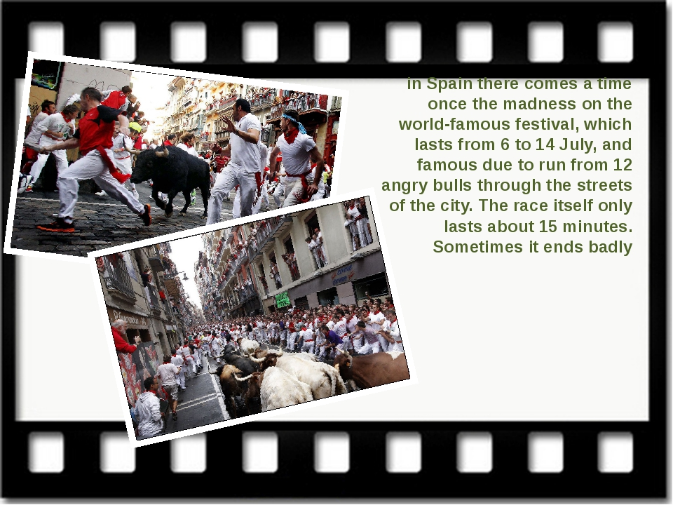 in Spain there comes a time once the madness on the world-famous festival, wh...