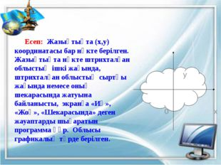 Program Esep1; Var x, y : real; Begin Writeln ('Нүкте координатларын енгіз');