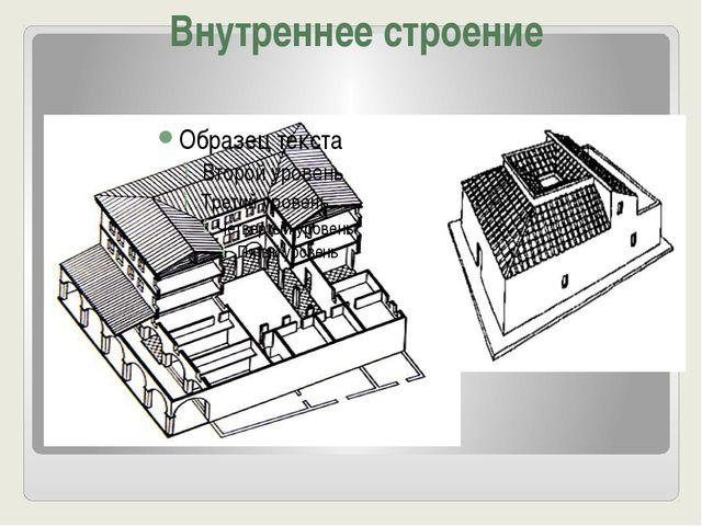 Внутреннее строение