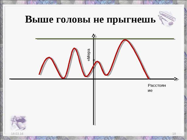 * * Выше головы не прыгнешь Расстояние «Мера»