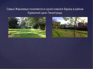 Семья Жмылевых поселяется в одной комнате барака в районе Куракиной дачи Лени