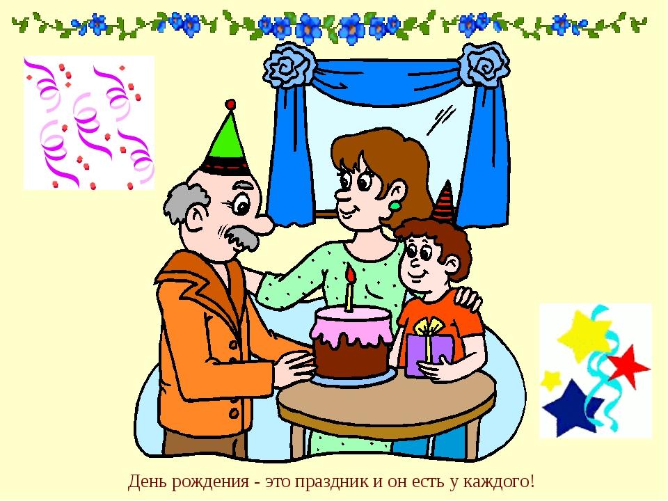 День рождения - это праздник и он есть у каждого!