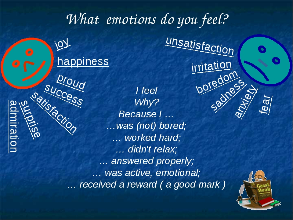What emotions do you feel? satisfaction happiness joy success admiration prou...