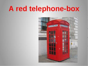 A red telephone-box