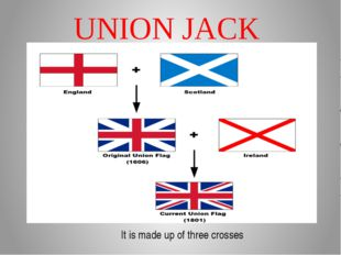 UNION JACK It is made up of three crosses
