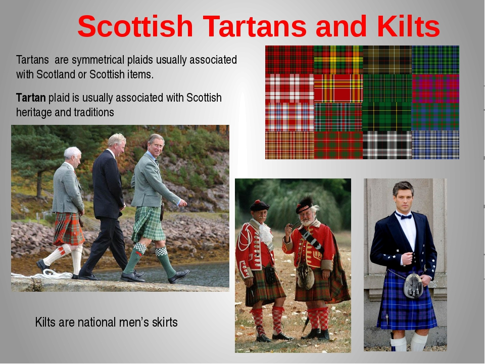Scottish Tartans and Kilts Tartans are symmetrical plaids usually associated...