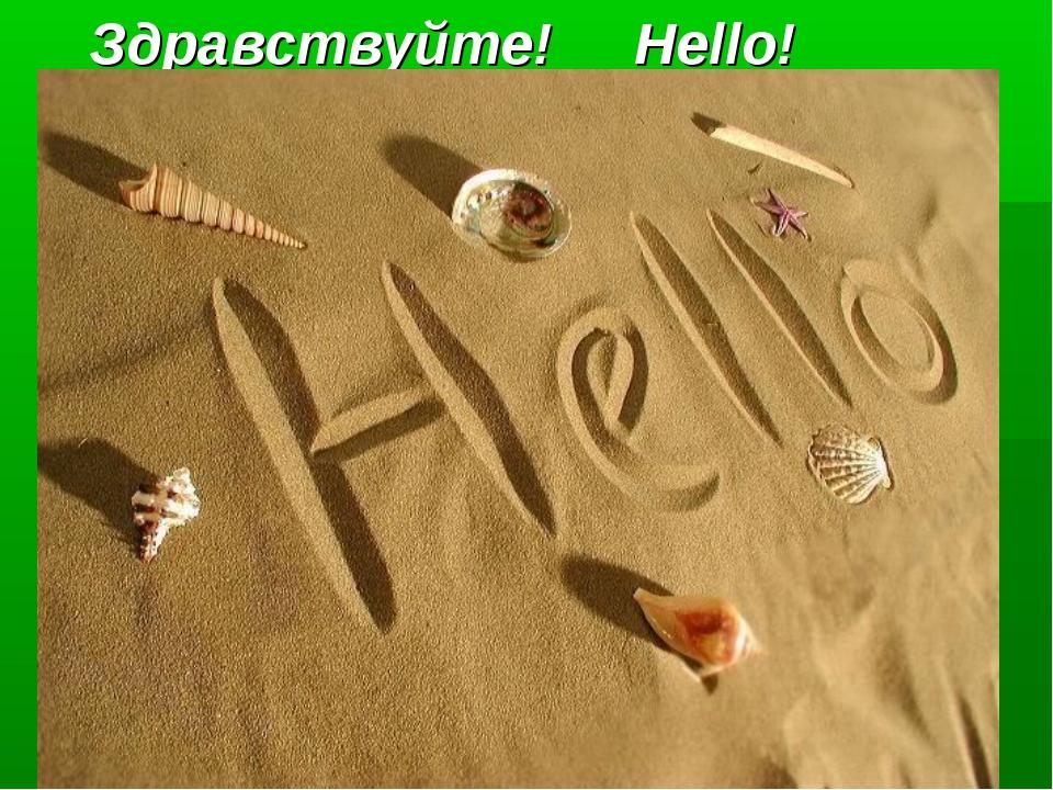 Здравствуйте!     Hello!