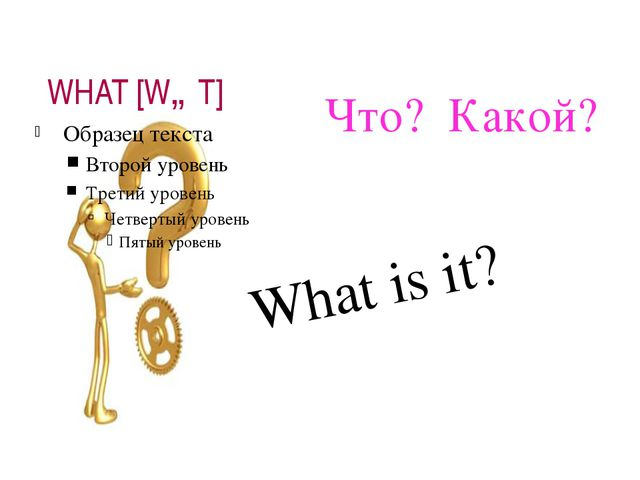 WHAT [WɒT] Что? Какой? What is it?