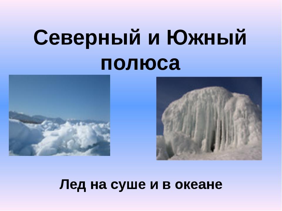 Северный и Южный полюса Лед на суше и в океане