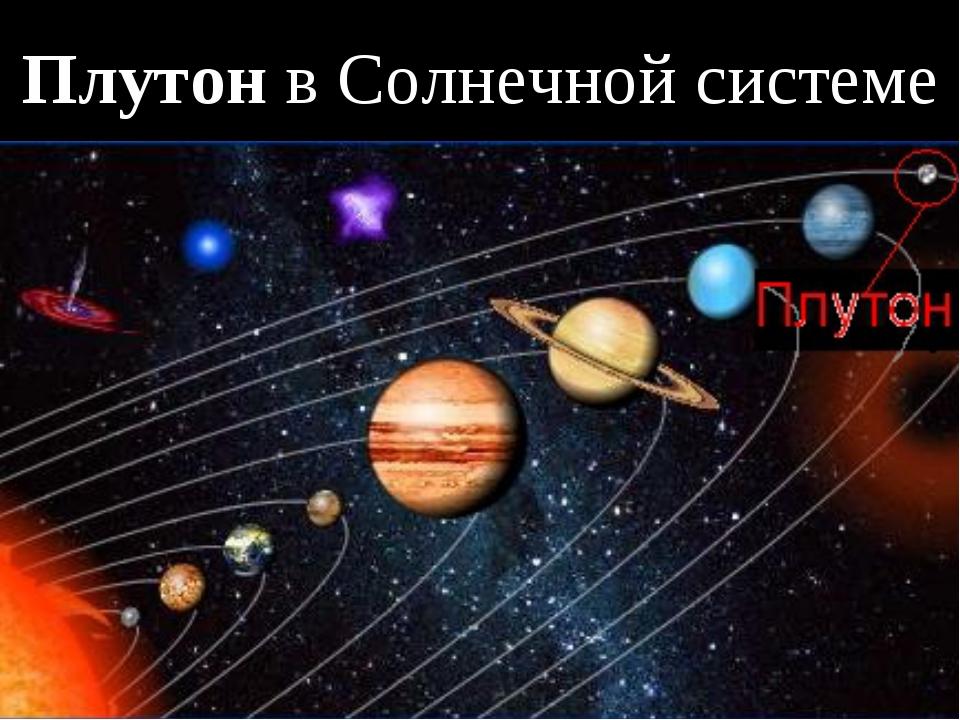 Плутон в Солнечной системе