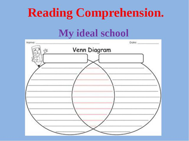 Reading Comprehension. My ideal school