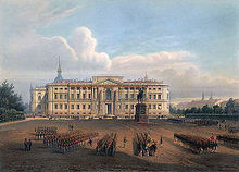 https://upload.wikimedia.org/wikipedia/commons/thumb/6/6b/Saint_Michael%27s_Castle_in_St._Petersburg_in_the_19th_century.jpg/220px-Saint_Michael%27s_Castle_in_St._Petersburg_in_the_19th_century.jpg
