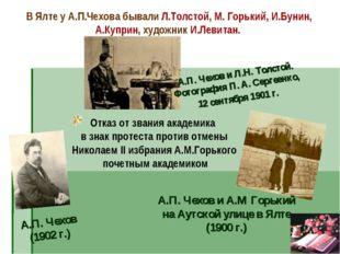 Отказ от звания академика в знак протеста против отмены Николаем II избрания