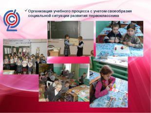 Организация учебного процесса с учетом своеобразия социальной ситуации разви