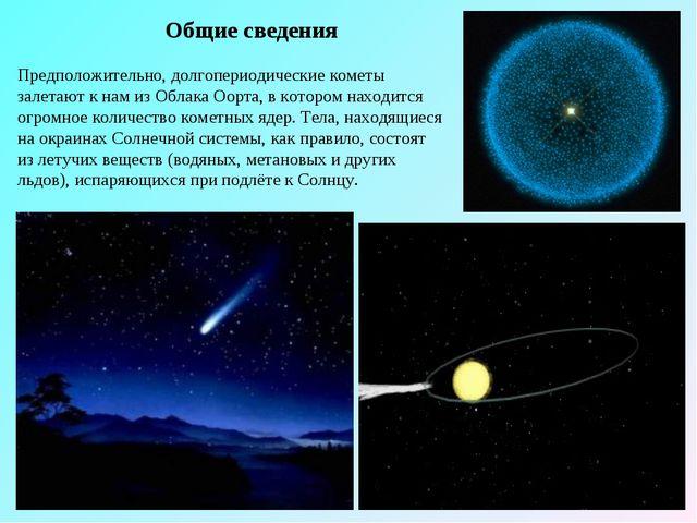 Общие сведения Предположительно, долгопериодические кометы залетают к нам из...