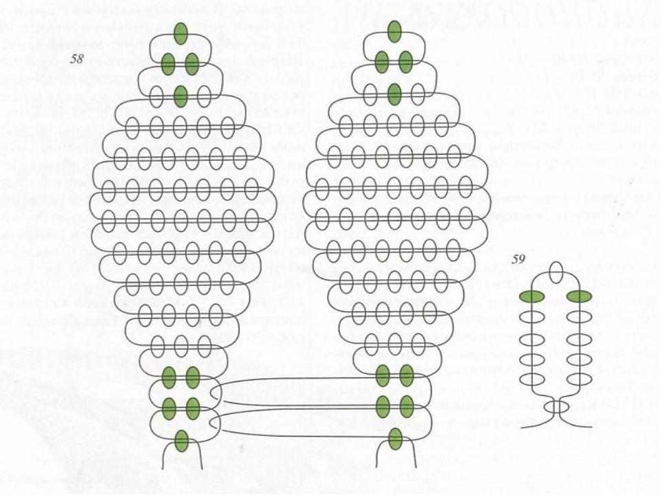 Плетение из бисера листики