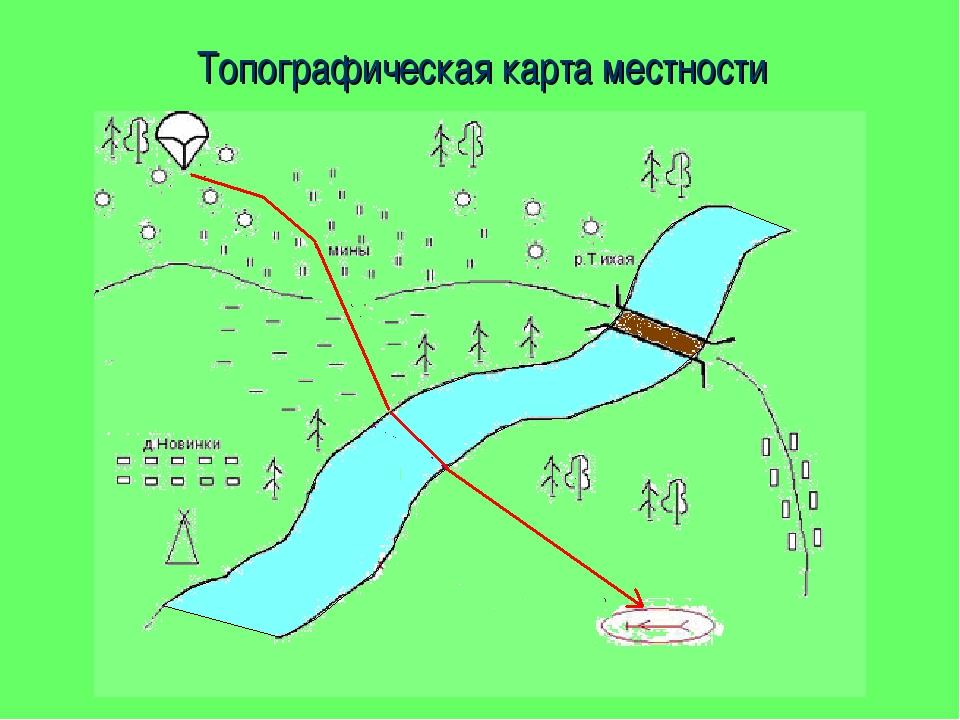 Топографическая карта местности