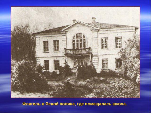 Флигель в Ясной поляне, где помещалась школа.