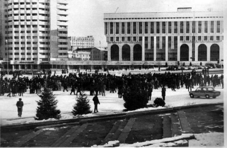 Желтоксан 16 декабря 1986 - Студенческие протесты в Алма-Ате - Фото ЛИБЕРТЕН