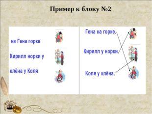 Пример к блоку №2