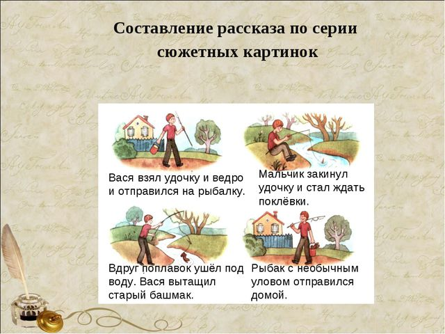 Составление рассказа по серии сюжетных картинок