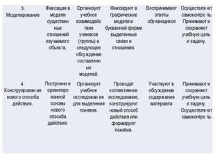 3. МоделированиеФиксация в модели существен ных отношений изучаемого объекта