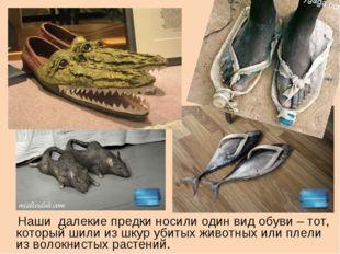 Наши далекие предки носили один вид обуви – тот, который шили из шкур убитых