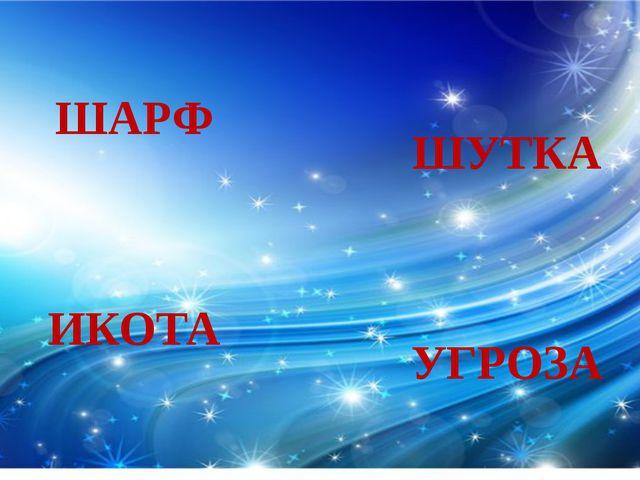 ШАРФ ИКОТА ШУТКА УГРОЗА