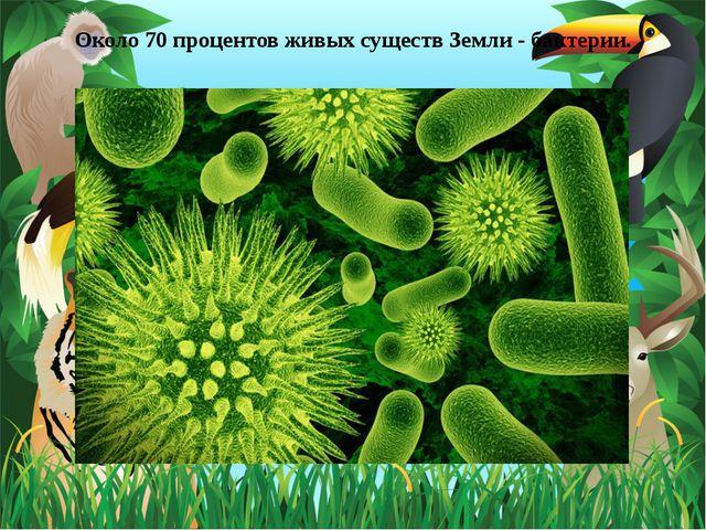 Около 70 процентов живых существ Земли - бактерии.